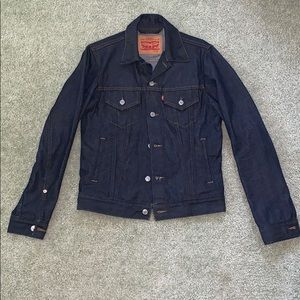 Levi Strauss Dark Denim Jean Jacket Unisex Small